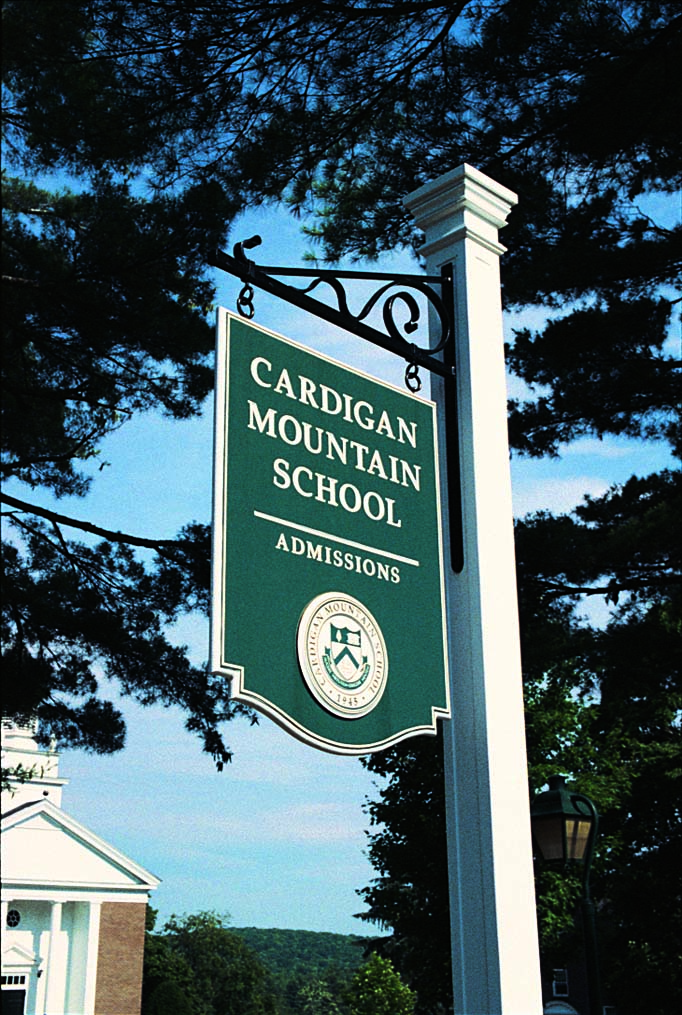 Admissions Sign for Cardigan Mountain School