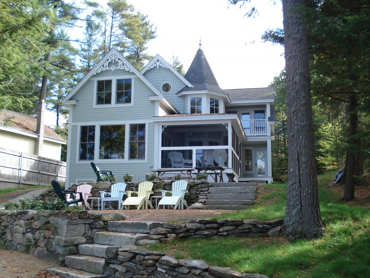 Lakeside Victorian reproduction home in Rindge, NH