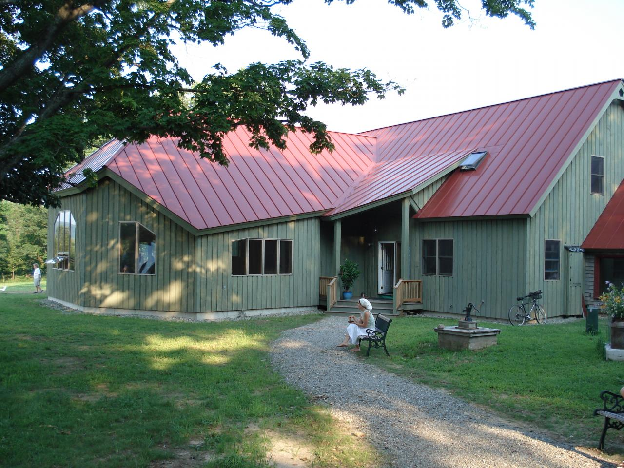 The Agora community building at Plowshare Farm