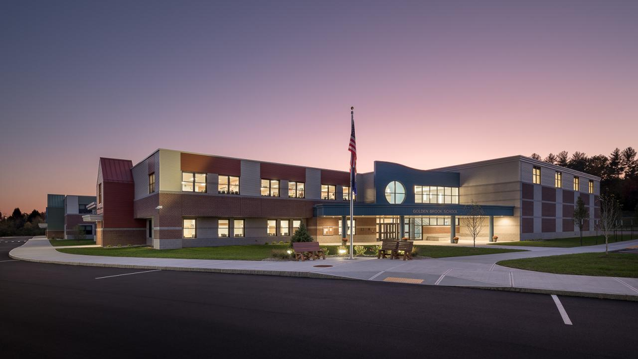 New Hampshire Architecture Photography of Golden Brook Elementary School