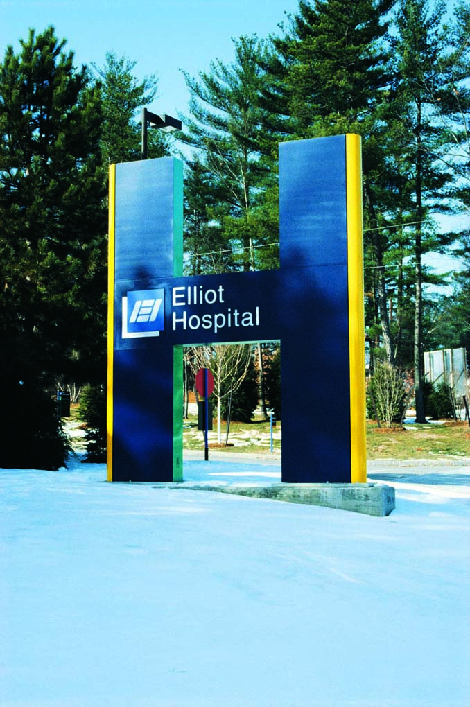 Main Entry Sign for Elliot Hospital