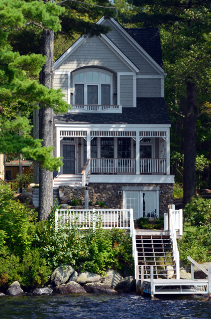 This custom Victorian cottage fits right in with the architecture found in Blodgett Landing, Newbury NH.