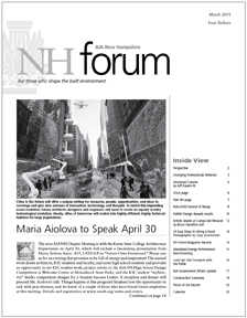 April 2013 NH Forum