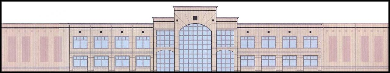Colored Elevation of 276,500 SF Beer Distribution Center in Philadelphia