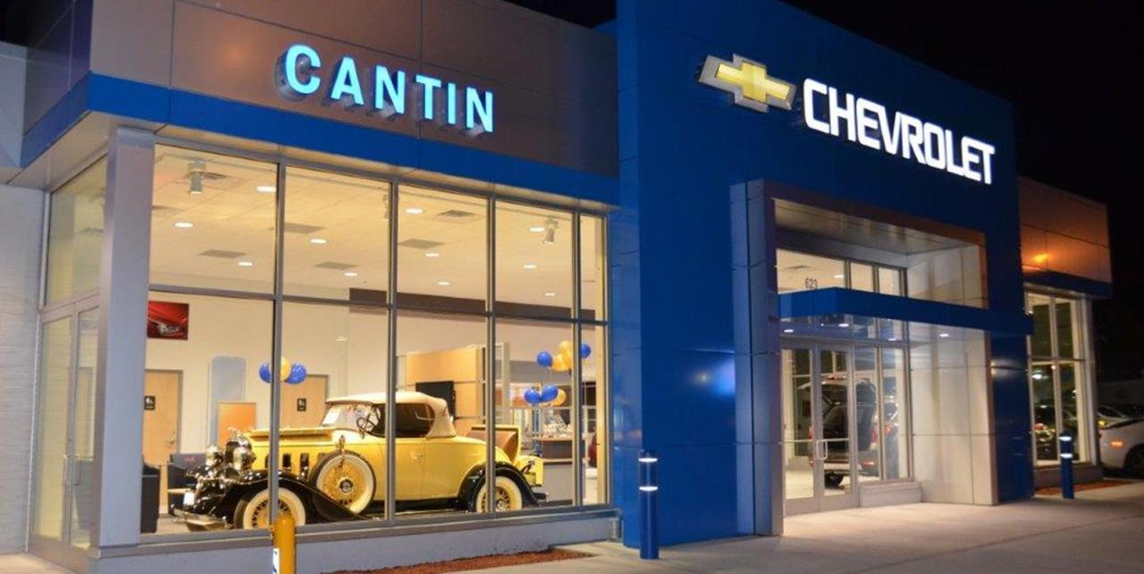 Cantin Chevorlet Showroom, Laconia NH